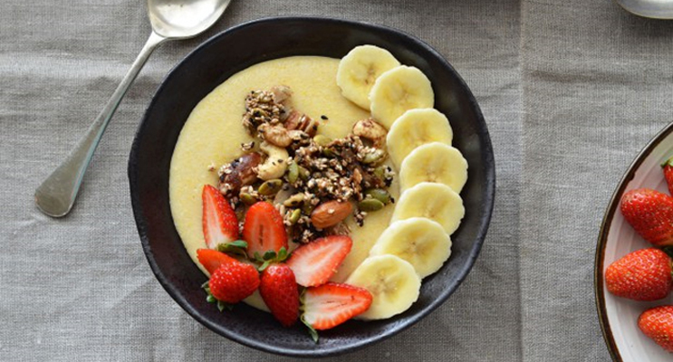 Soft Polenta with Fruit and Nuts