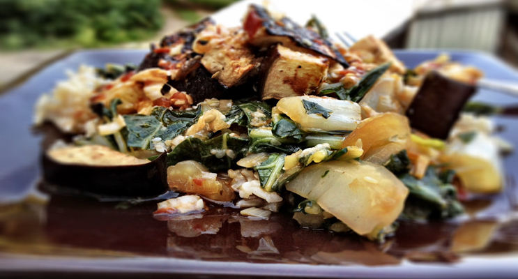 Eggplant and Baby Bok Choy Stir Fry