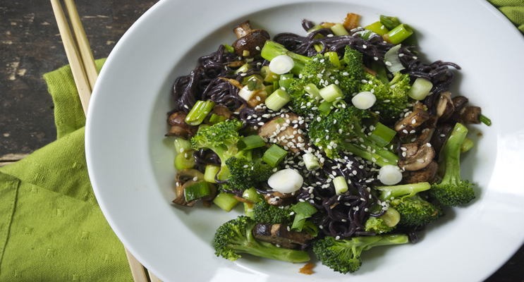 Broccoli and Forbidden Black Rice Salad