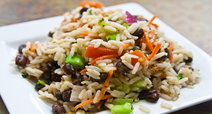 Winter Rice Salad with Toasted Pumpkin Seeds