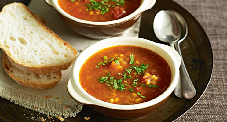 Turkish Red Lentil Soup with Rice & Quinoa